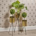 Golden Metal Flower Pots