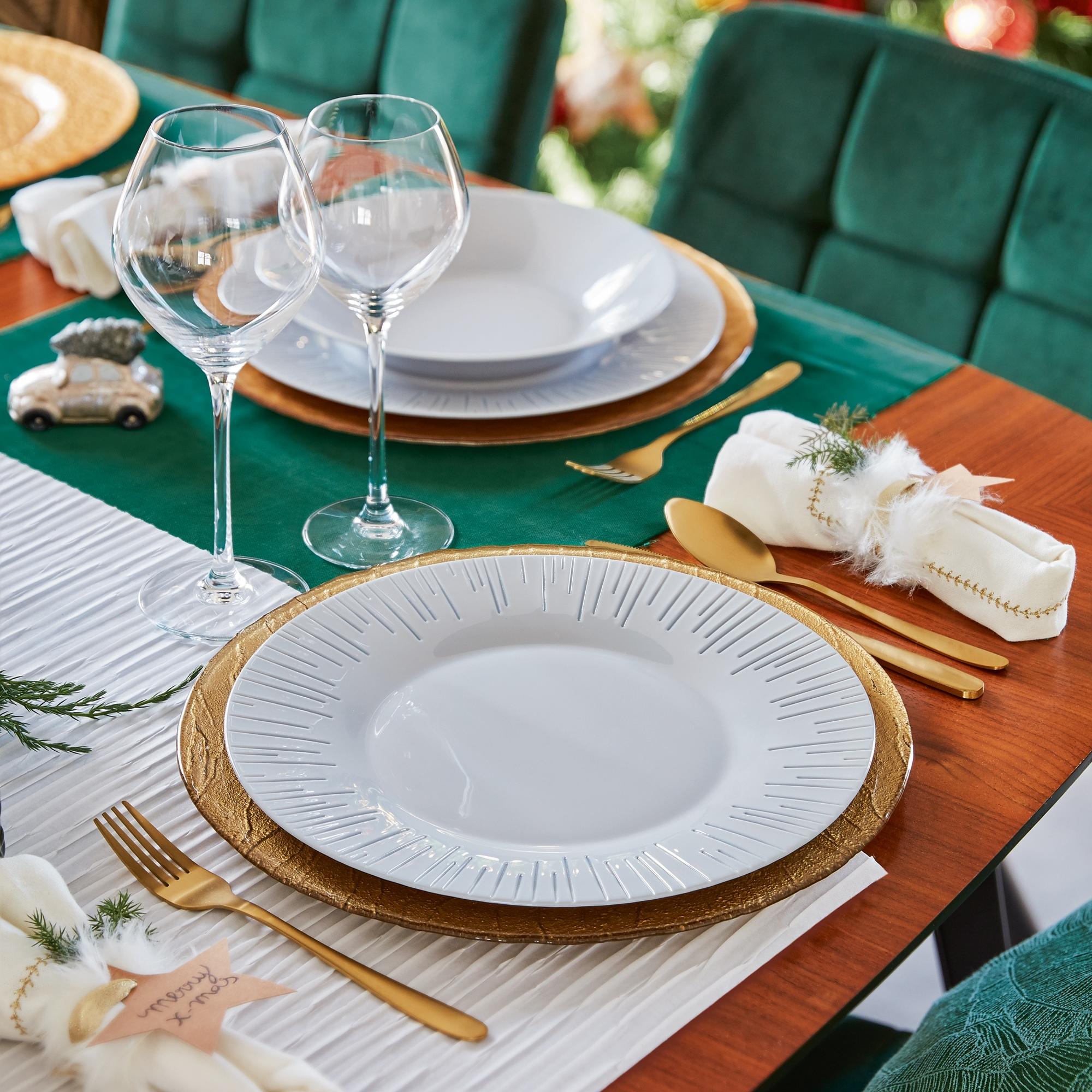 Luminarc Luminis 18pc Opal Glass Dinner Set Dinnerware Modern Summer Plates NEW