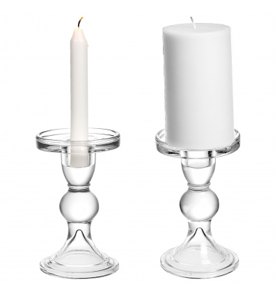 Glass Candle Holder 8x13cm [293610]