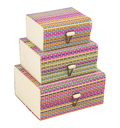 3 PCS Colour Bamboo Box Set [838300030]