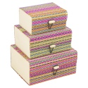 3 PCS Colour Bamboo Box Set [7584077]