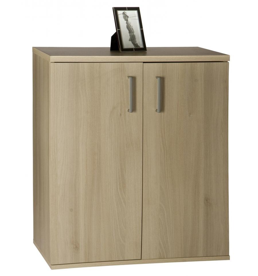 Two Door Three Shelf Cabinet Acacia