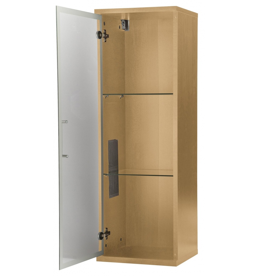 Wall mounted display cabinet beech for Beech kitchen wall cupboards