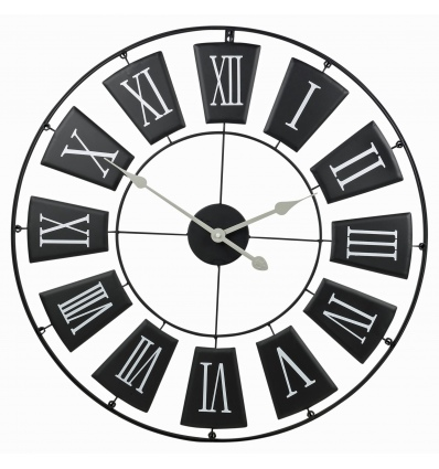 Black 70cm Metal Wall Clock [301025]