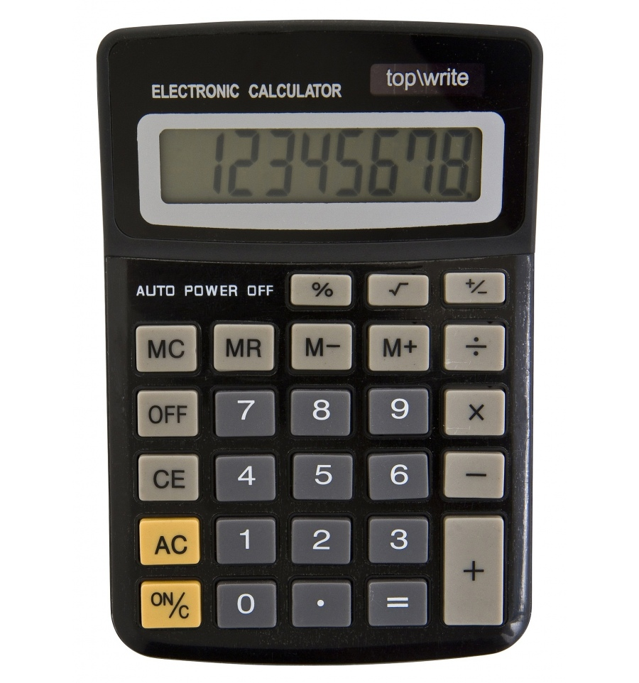 8 Digit Electronic Top Write Calculator