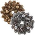 Glitter Pinecone Wreath 26cm