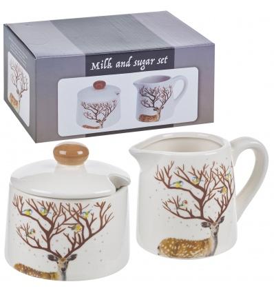 Dolomite Stag Design Sugar & Milk Jug Set [524868]
