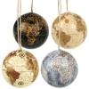 Hanging World Globe Baubles 4 Ass [551574]