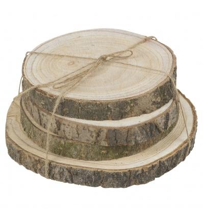 Wooden Decor Slices 4 Pcs Set [339062]