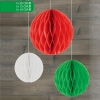 Hanging Honeycomb Decoration Red/Green/White [140654]
