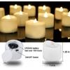 24 Warm White Votive Tealight Candles [X000OZE1E5]