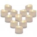 12 Warm White LED Votive Tea Light Candles [X000HVPCUX]