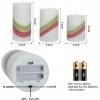 3 Coloured Wax Flameless LED Pillar Candles with 5 Hr Timer [X000WJD9D7]
