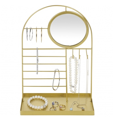 Gold Jewellery Holder Rack With Mirror 21x 23 [629679]