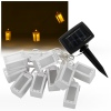 10 LED White Solar Lantern String Lights [380036]