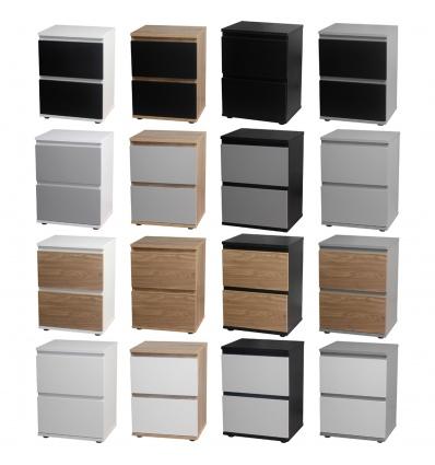 Skagen 2 Drawer Bedside Cabinet
