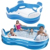 Blue & White Square Inflatable Family Sized Swimming Pool [454757]