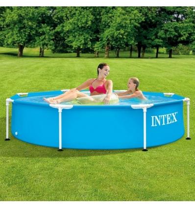 Metal Frame Blue & White Swimming Pool [420561]