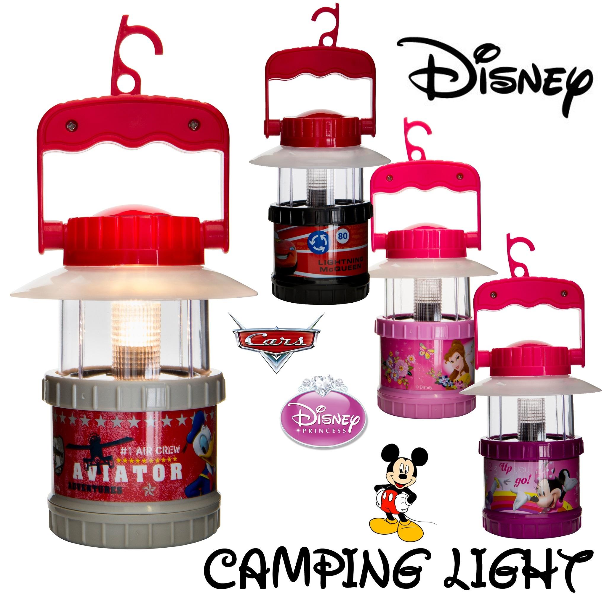 Kids Disney Characters Camping Lamp Lantern Light Outdoor