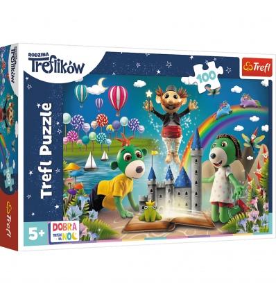 "Puzzles - ""100"" -  Fairytale evening with Trefliks - Good night, Trefliks for the night / Studio Trefl Rodzina Treflikow [16412]"