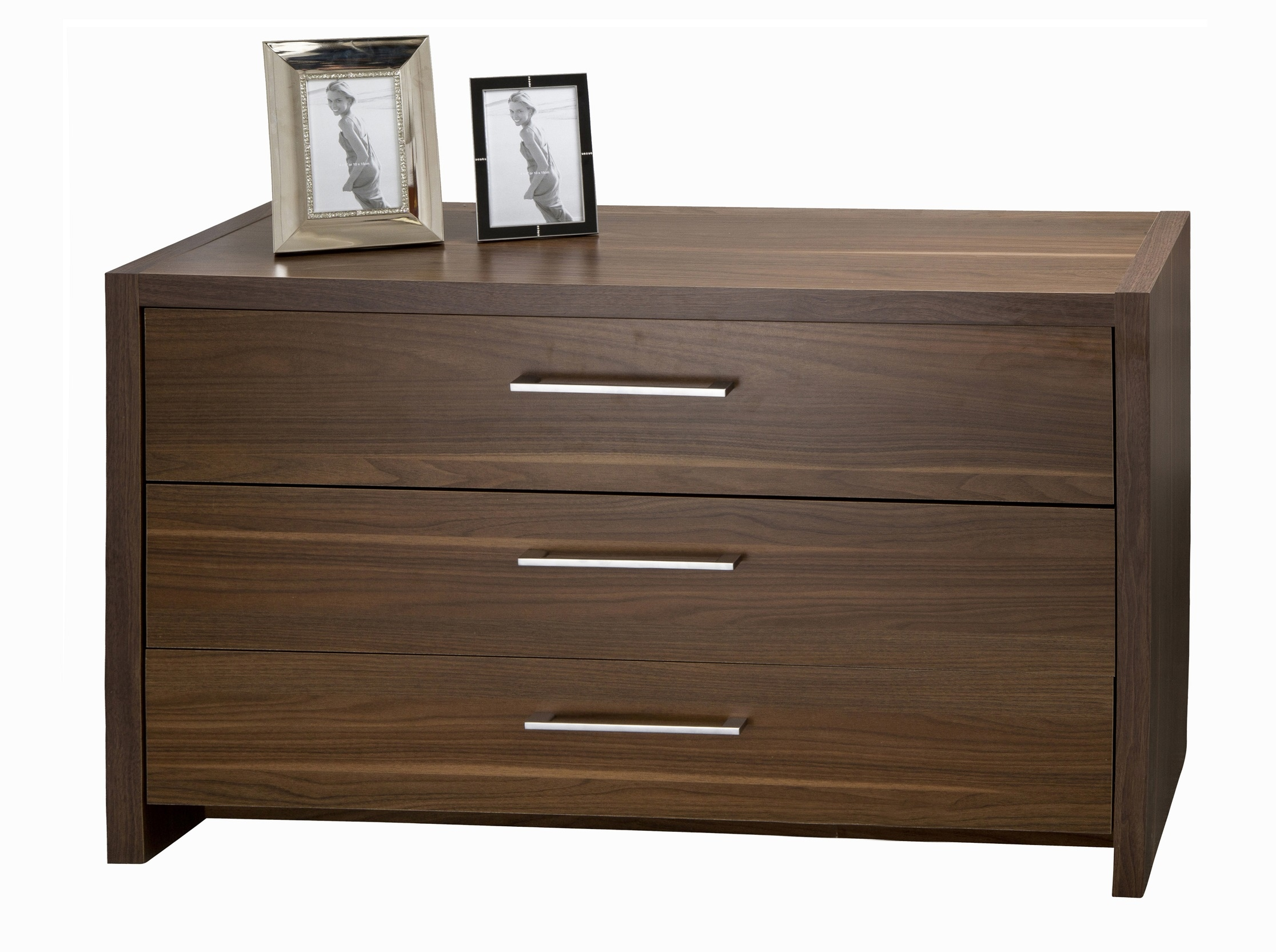 Amazing photo of Details about Chest Of 3 Drawers Walnut Unit Bedroom Furniture Wide  with #463426 color and 2232x1665 pixels