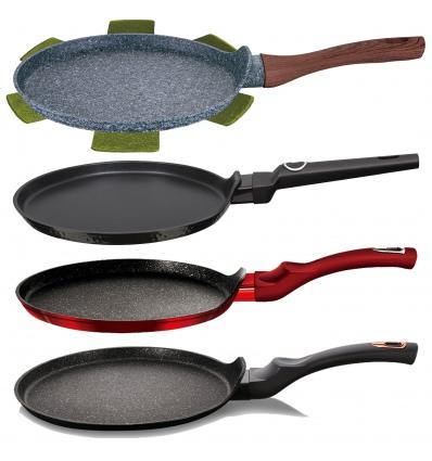 Metallic Line 25cm Burgundy Pancake Pan