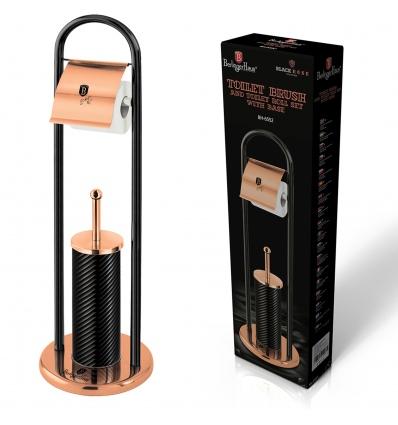 Metallic Toilet Brush With Paper Holder