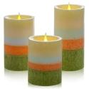 """4"""" 5"""" 6"""" Coloured Wax Flameless LED Pillar Candles [X000WJD9D7]"""