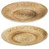 Wooden Round Burnt Plate 39cm
