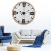 Extra Large Wooden Metal Clock [730085]