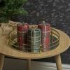 40hr Tartan Glitter Christmas Candle