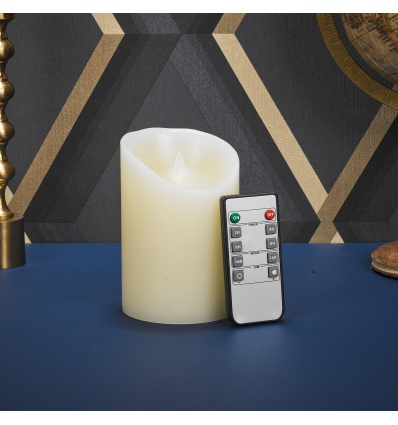 """5"""" Battery Operated Flickering LED Candle with Remote [X000PCXTXV]"""