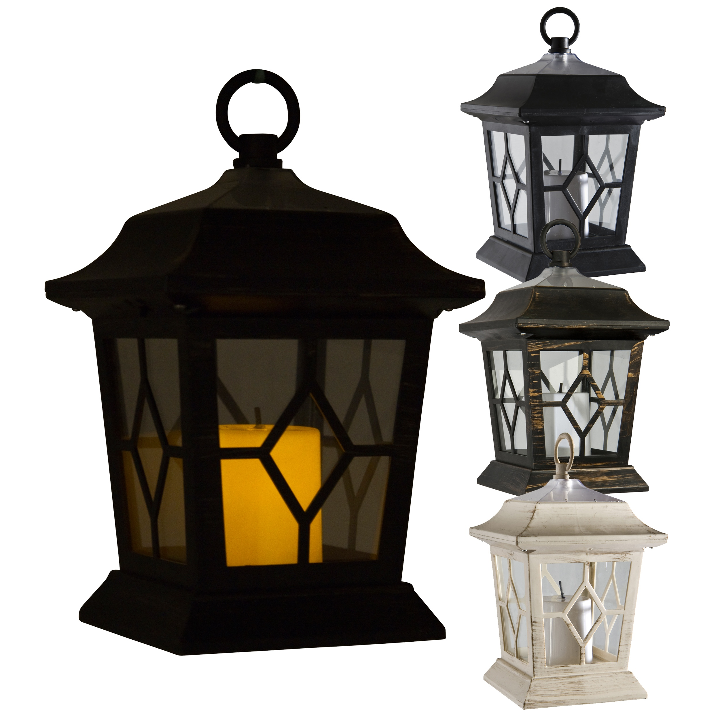 Solar Garden Light Lantern: LED Solar Powered Victorian Candle Lantern Lamp Light