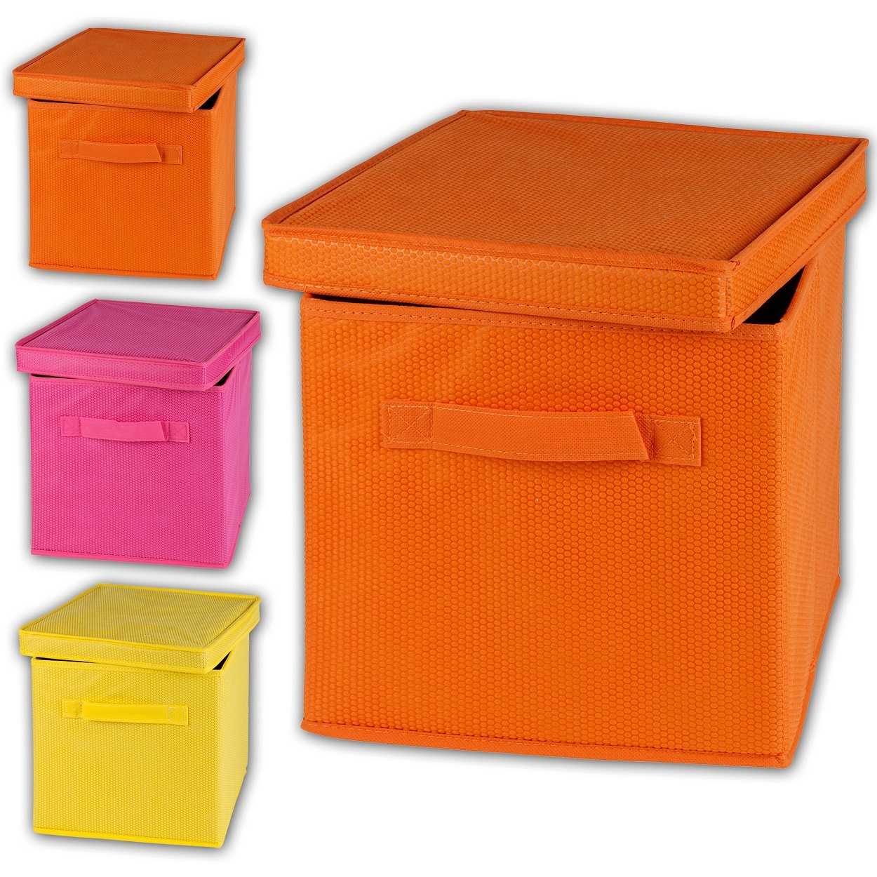 foldable storage box cube fabric organizer container collapsible unit home decor ebay. Black Bedroom Furniture Sets. Home Design Ideas