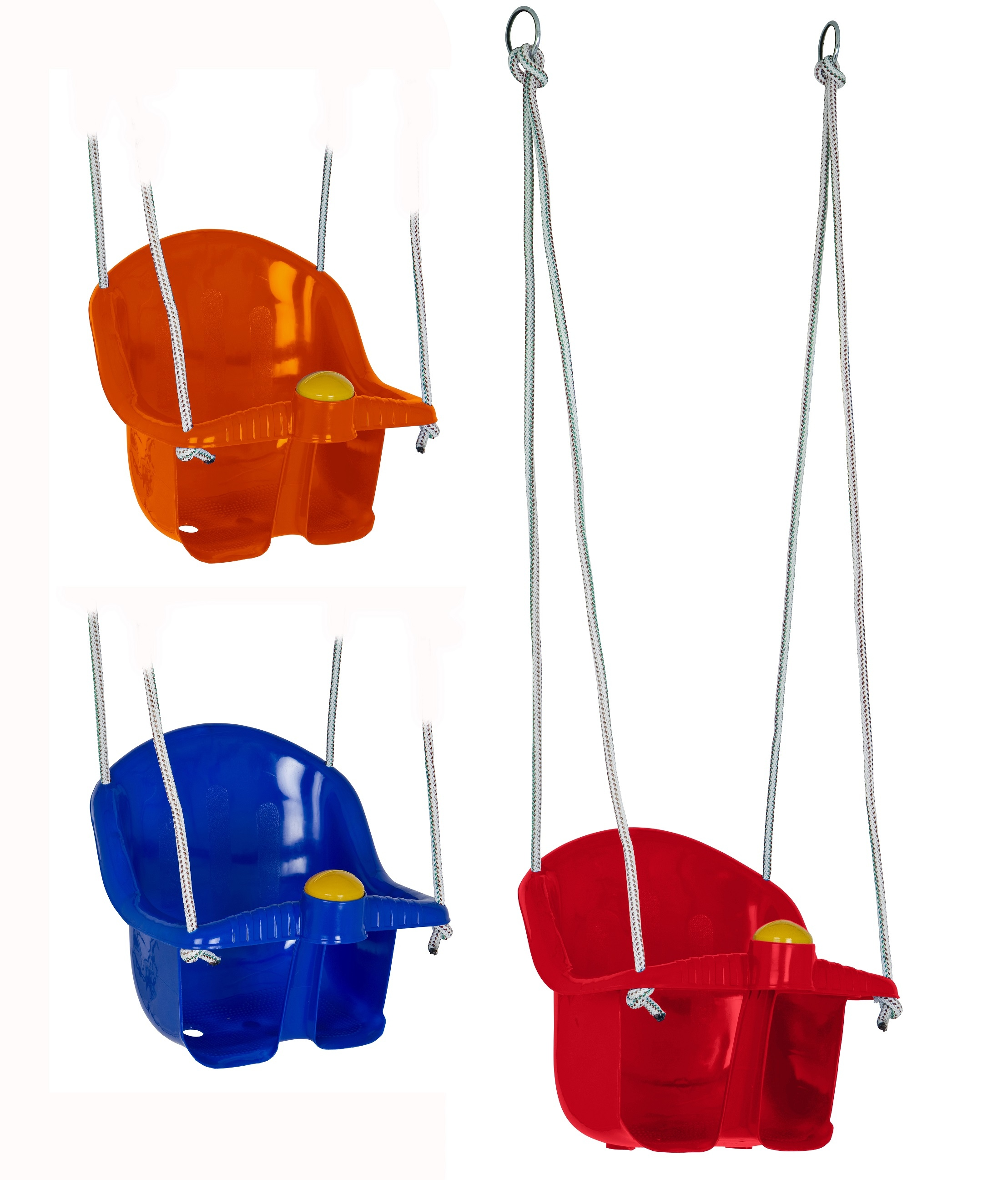 Childrens Plastic Swing Rope Seat With Rope & Mounting Rings Kids