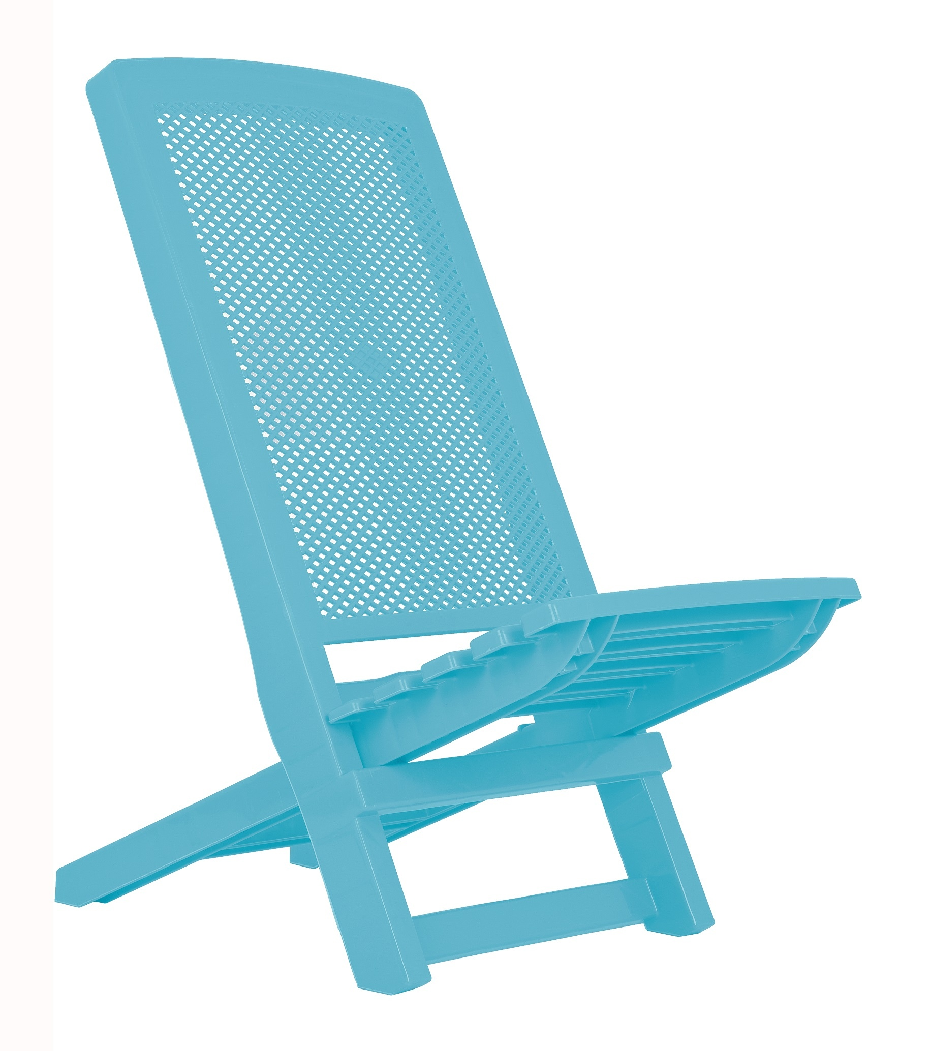 Folding Deck Beach Chair Plastic pact Camping Travel Garden