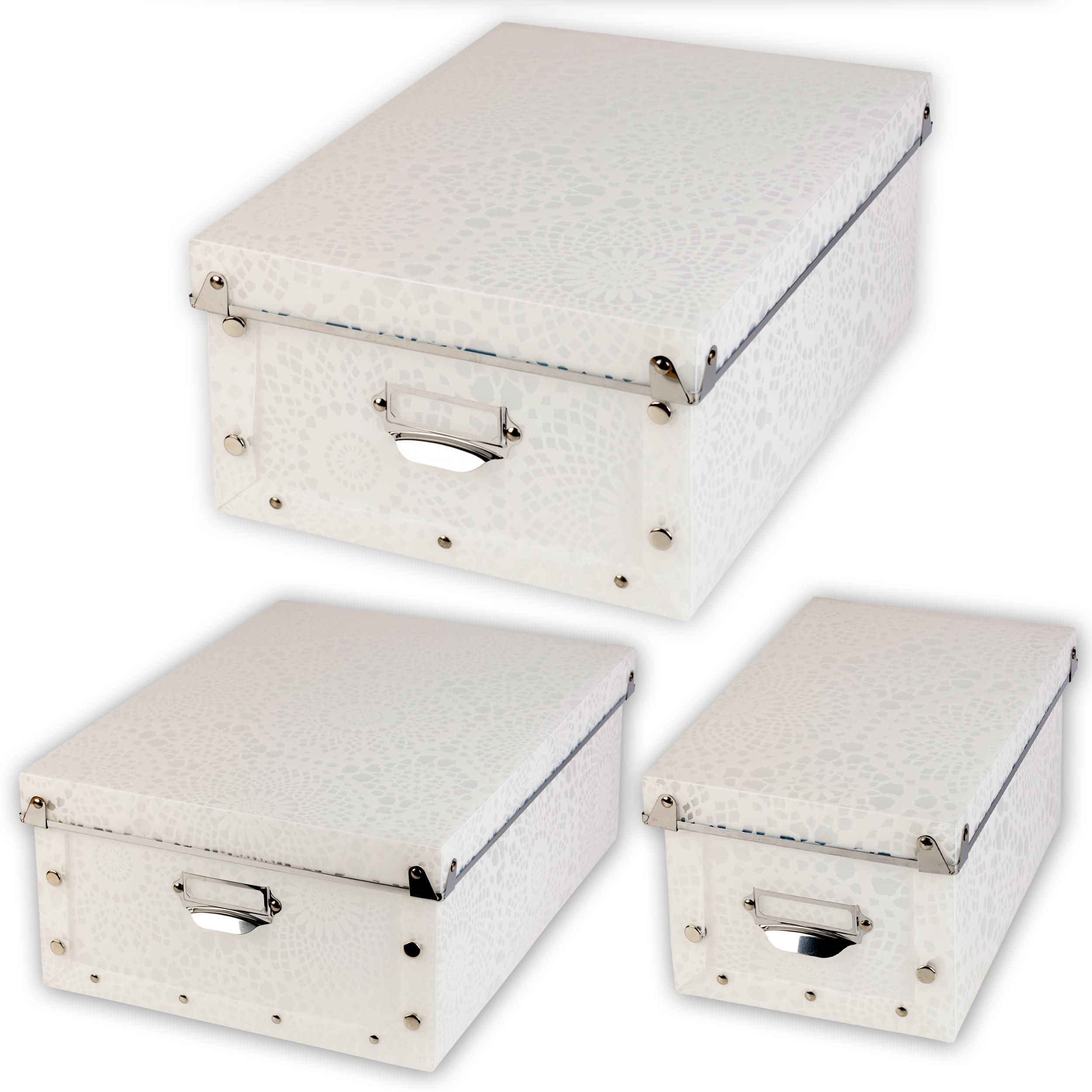 Spizy plastik klappbar gemustert aufbewahrungsboxen for Deckel englisch
