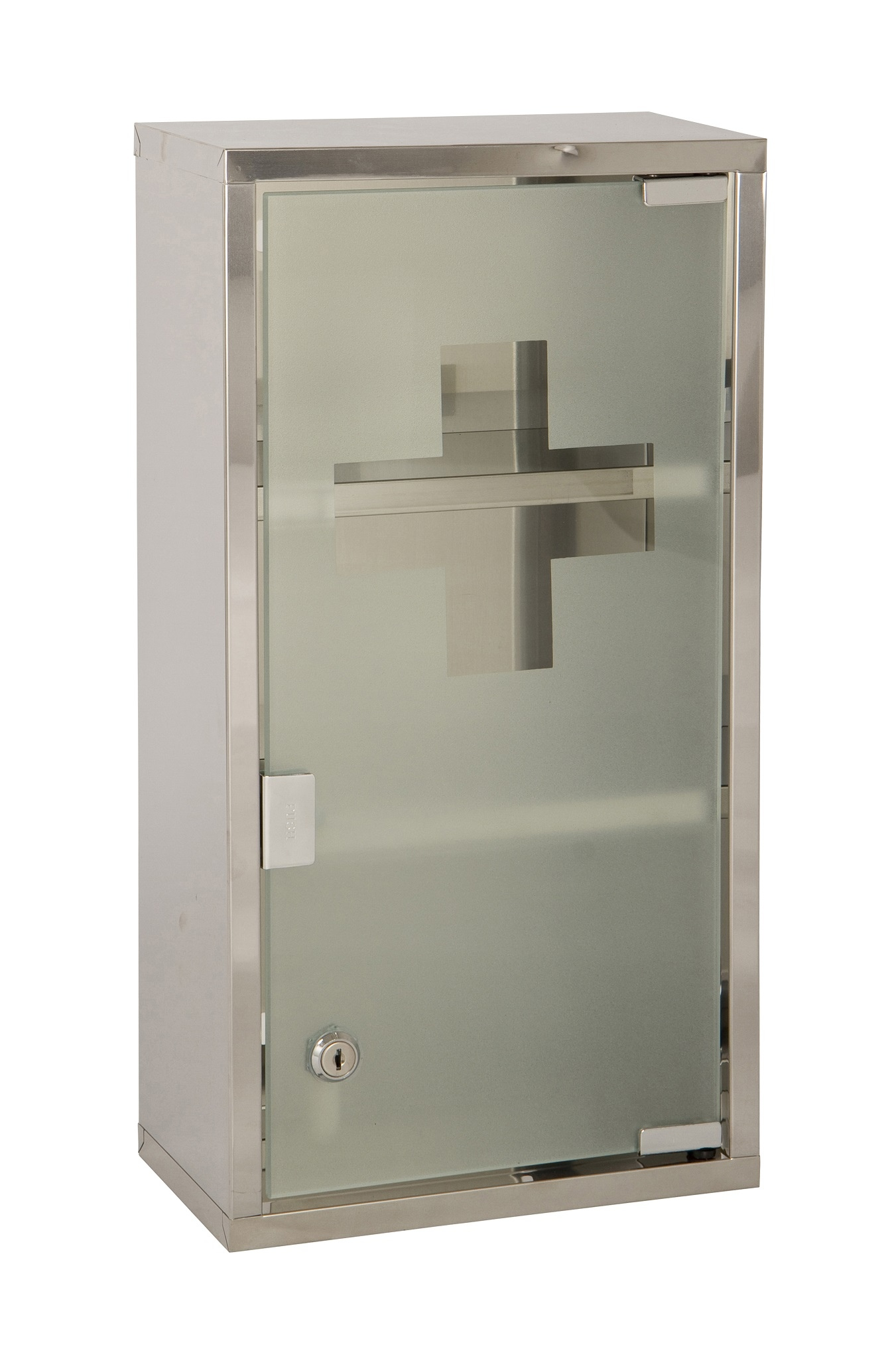wall mounted lockable 2 keys large medicine cabinet first aid box glass door ebay. Black Bedroom Furniture Sets. Home Design Ideas