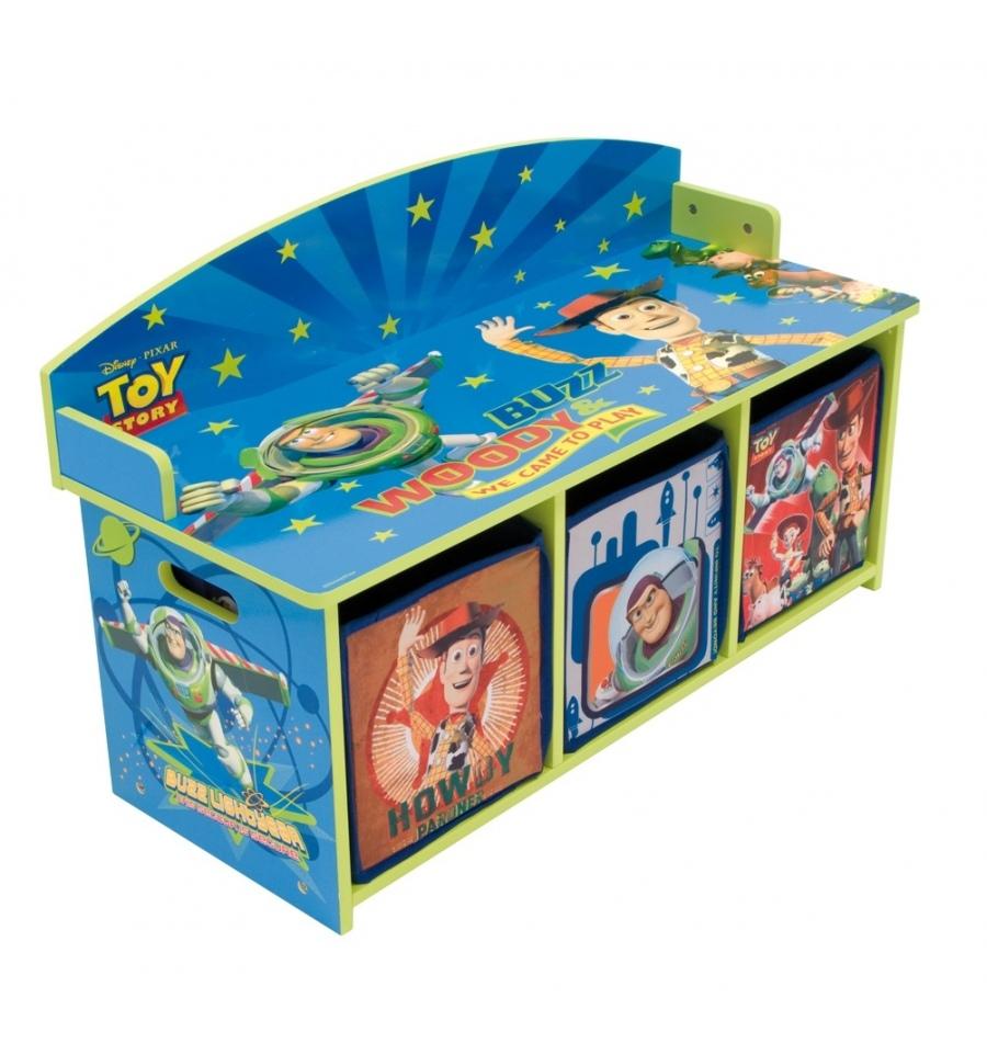 Dinosaurs Mdf Toy Box Childrens Storage Toys Games Books: Toy Story Children's Bench