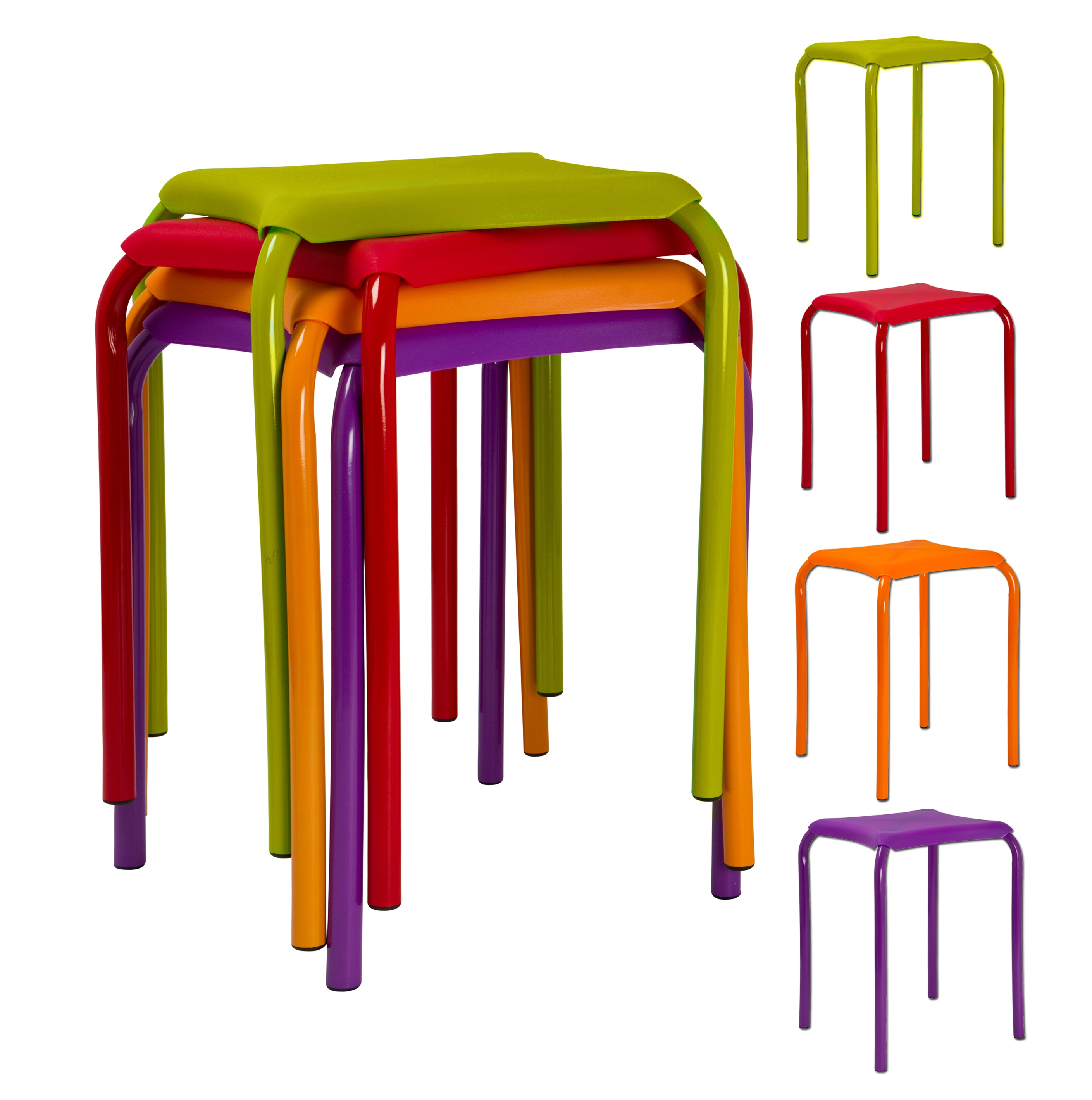 Kids Metal & Plastic fortable Sitting Stools Utility Bedroom