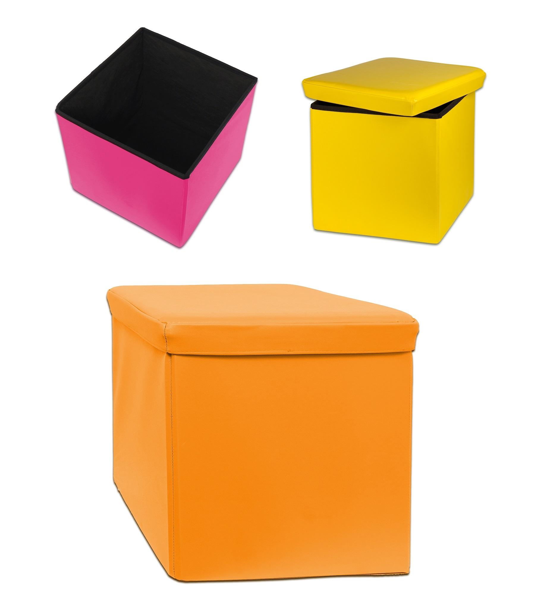 Designer Spizy Foldaway Ottoman Storage Toy Box Pouffe