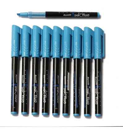 12 Reynolds Blue Ink Highlighters