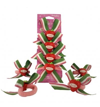 Strawberry Shortcake Ponytail Holders 4 Pack