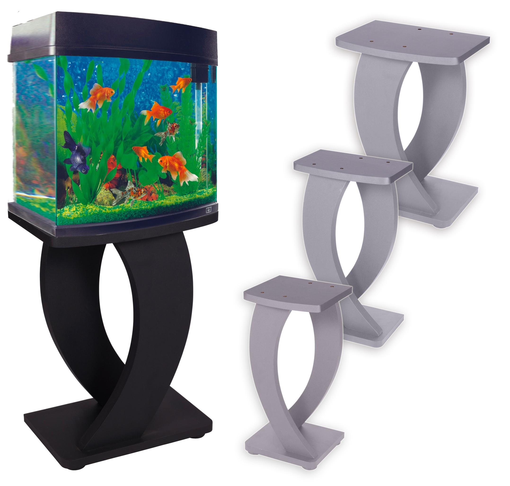 Wooden Mdf Aquarium Fish Tank Stand Black Silver Large Medium Small