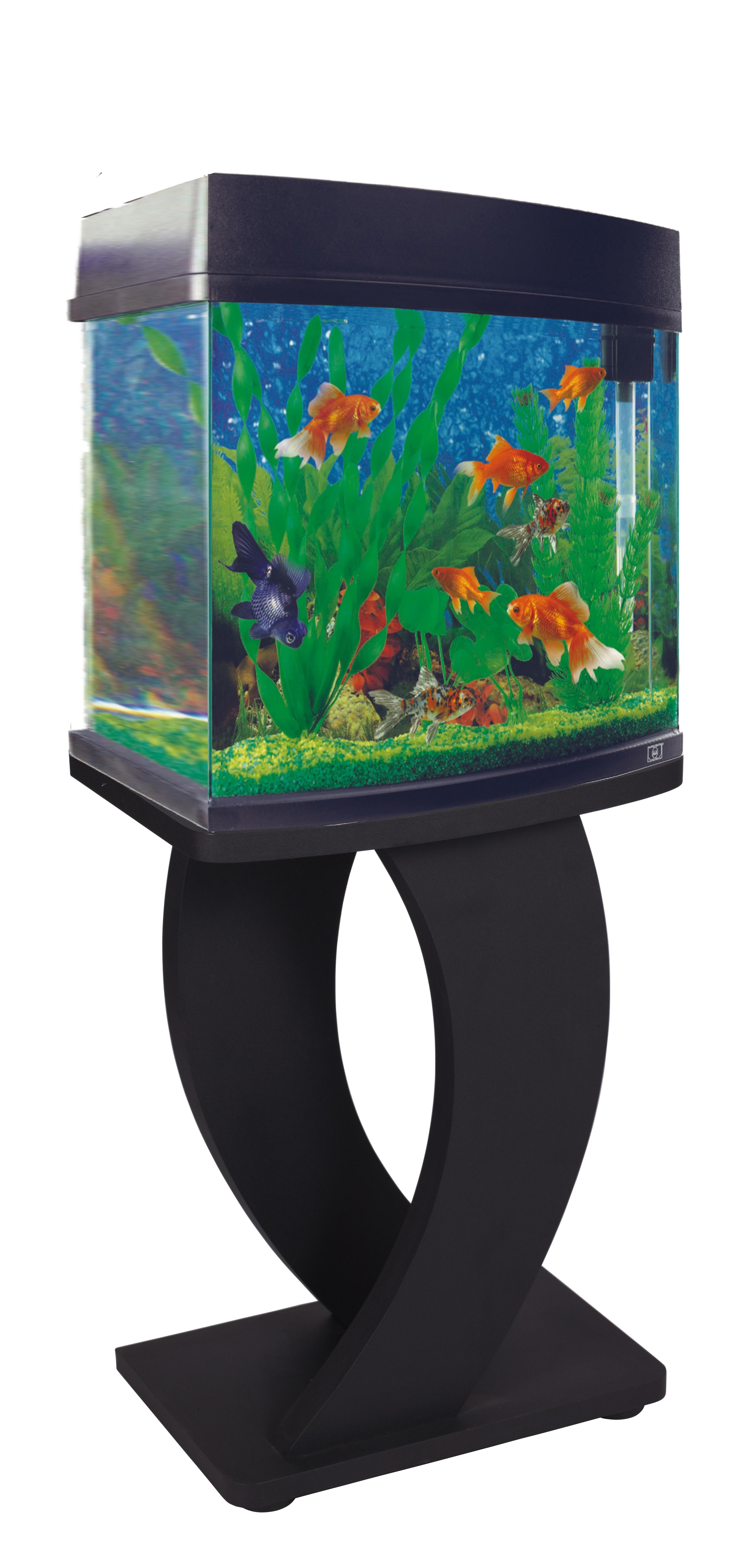 Wooden Mdf Aquarium Fish Tank Stand Black Silver Large