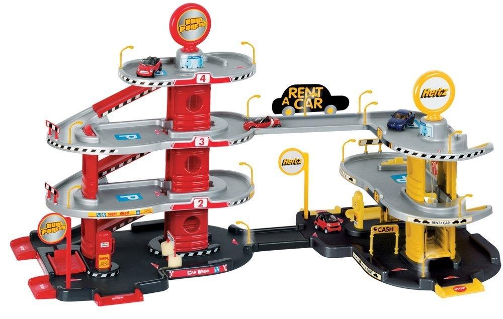 Set giocattoli garage a 4 livelli con stazione lavaggio for Garage a 2 livelli