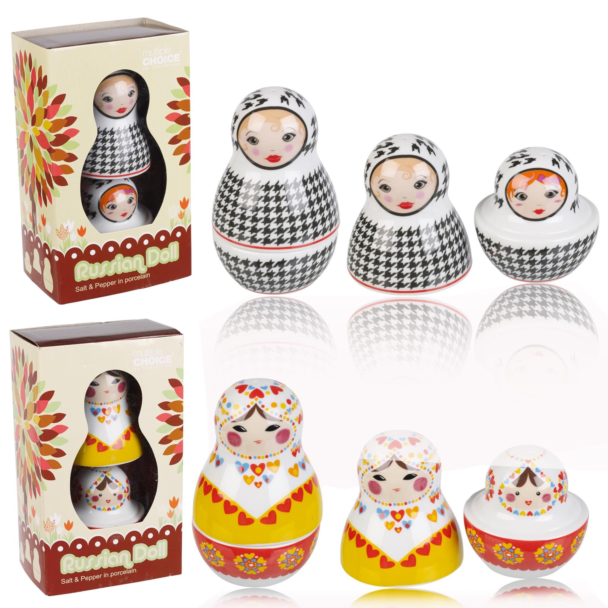 Russische Puppen NEUHEIT Salz und Pfeffer Blumentöpfe Schüttler ...