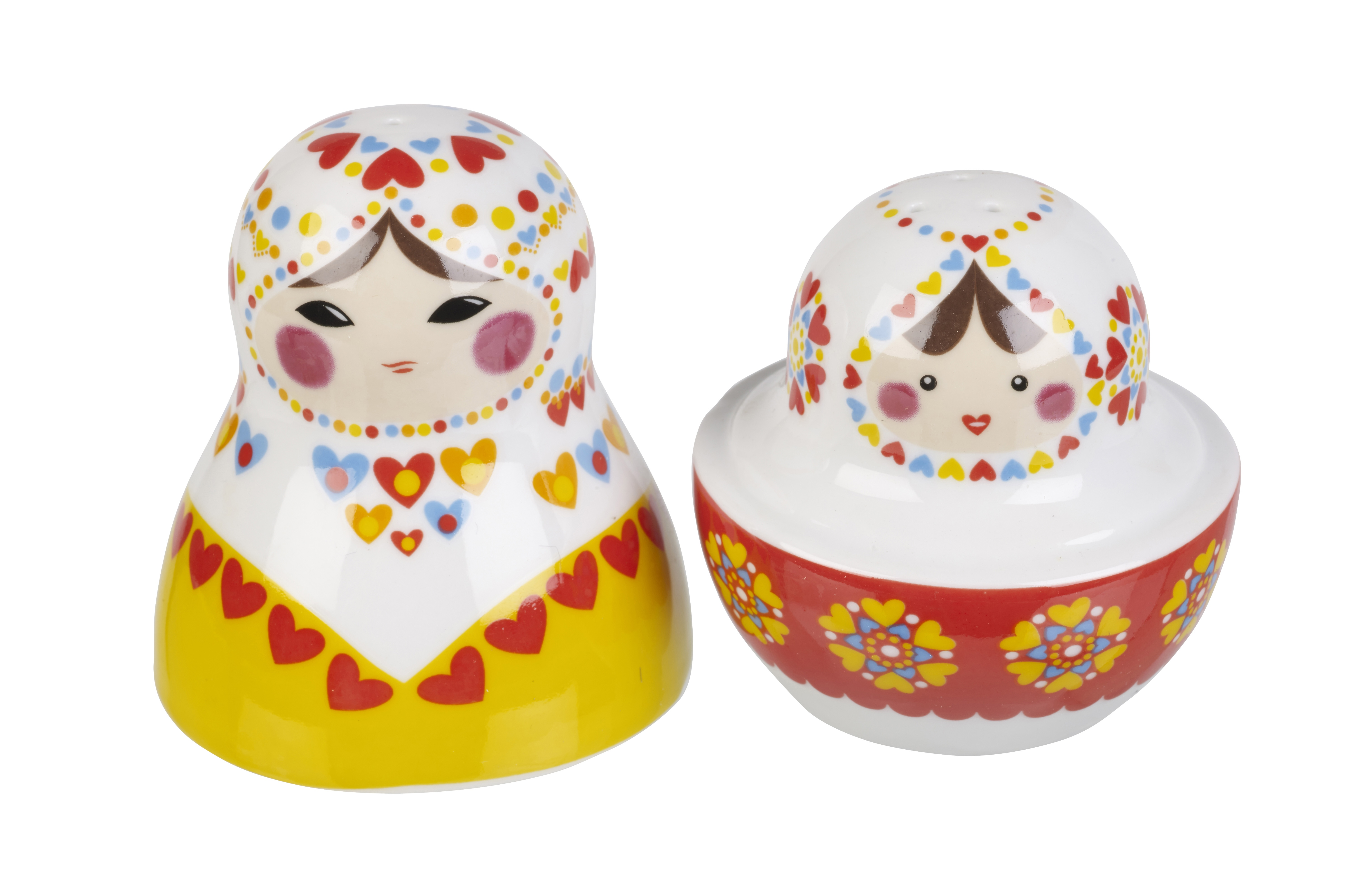 Russian Dolls Novelty Salt And Pepper Pots Shakers Cellar
