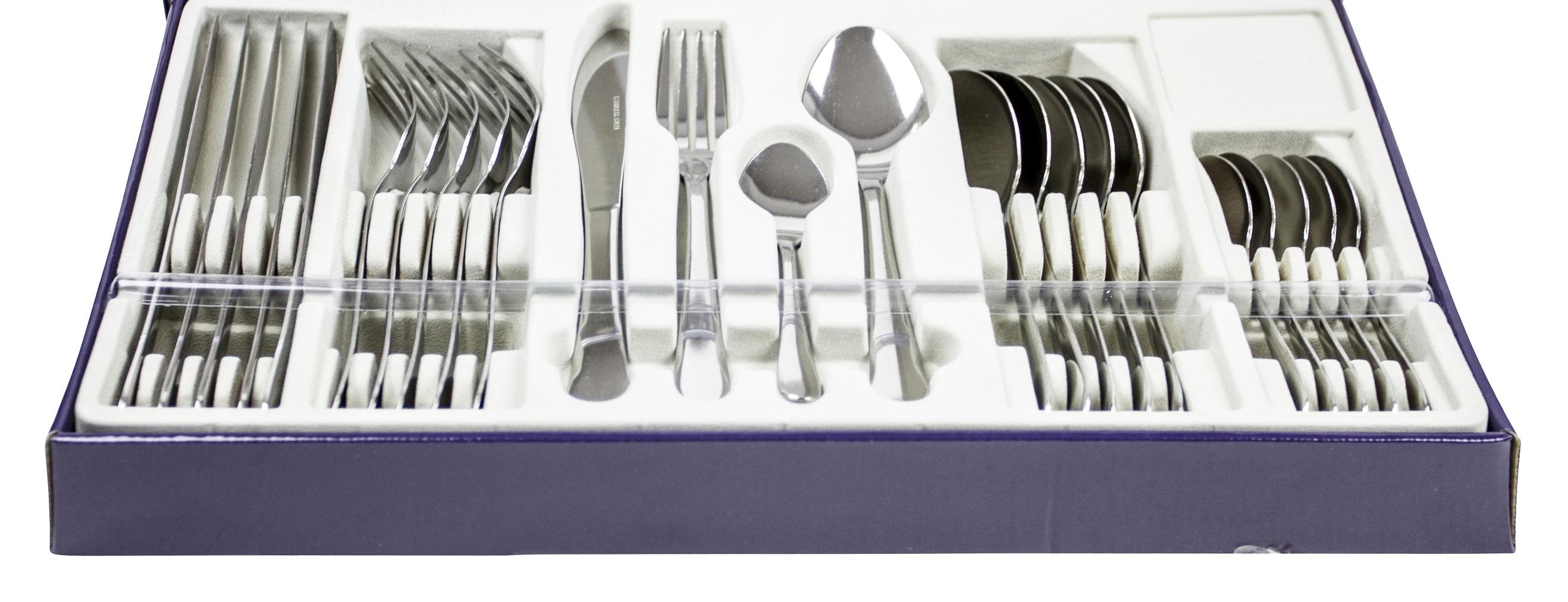 24 Piece Stylish Kitchen Stainless Steel Cutlery Set Tableware Dining Utensils 8711252533209 | eBay  sc 1 st  eBay & 24 Piece Stylish Kitchen Stainless Steel Cutlery Set Tableware ...