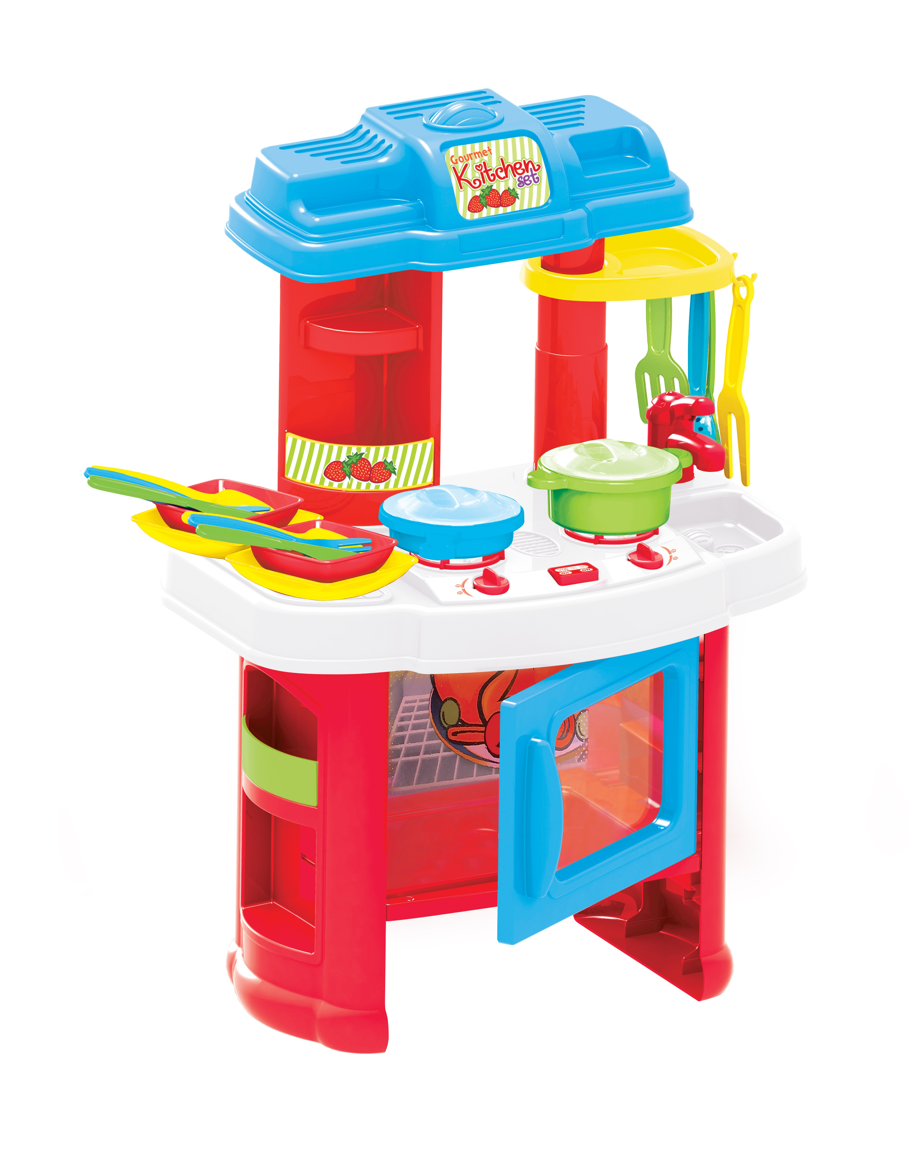 18 piece kitchen cooking children 39 s play set toy boys for Little boy kitchen set